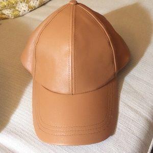 Free People Baseball hat new vegan leather